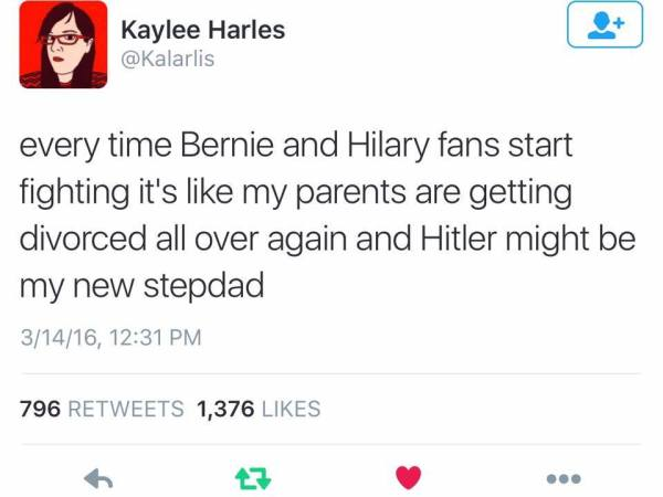 Hillary Bernie Hitler