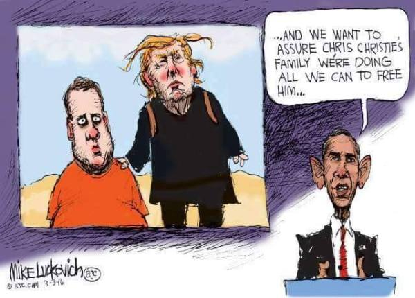 Obama Christie Trumpi