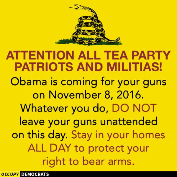 Teabagger Guns Obama