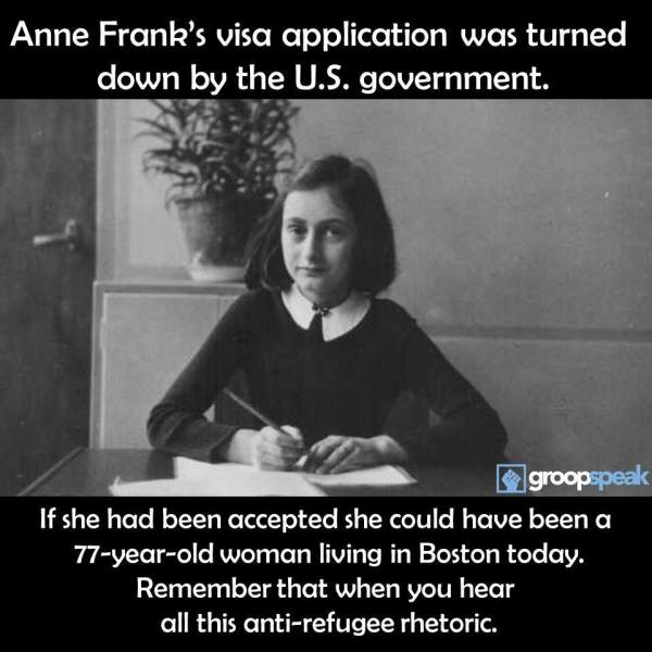 Anne Frank Immigrartion