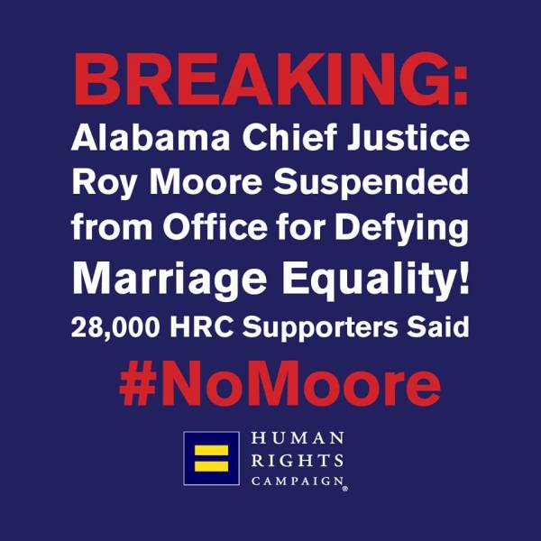 Roy Moore Suspended