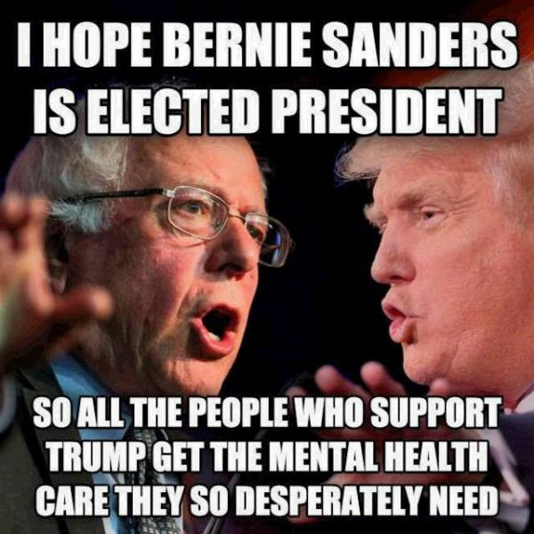 Trump Sanders mental Health