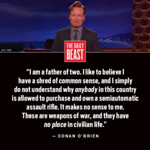 Conon O'Brien Gun Control