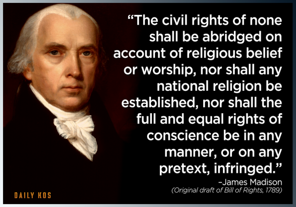 James Madison Religion