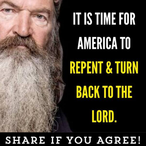 Repent Phil Duck Robertson