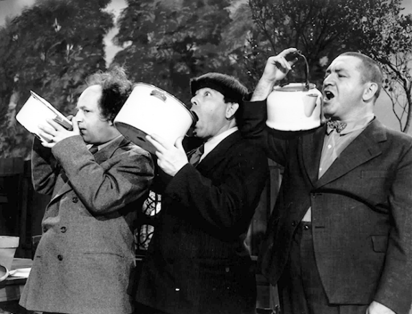 Three Stooges Drinking