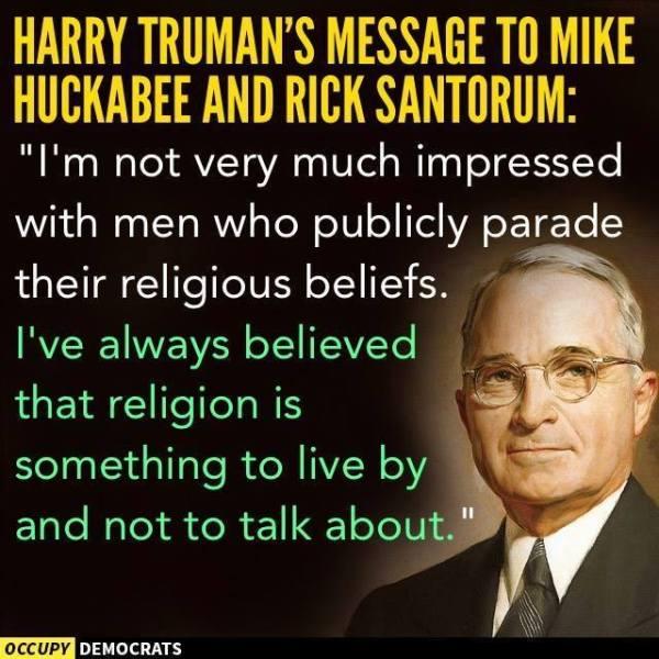 Truman Huckabee Santorum